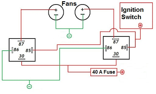 dual fan relay i installed dual fan in my 1999 tahoe. Black Bedroom Furniture Sets. Home Design Ideas
