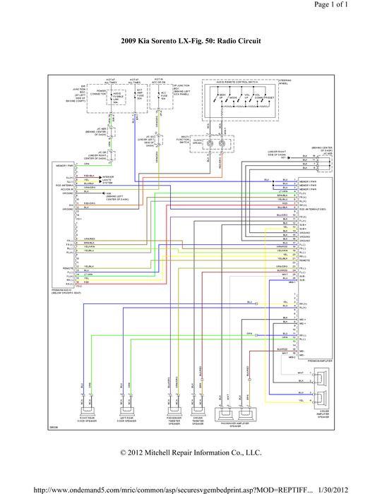 Radio Wiring Diagram For 2004 Kia Optima : Stereo wiring diagram for a kia optima