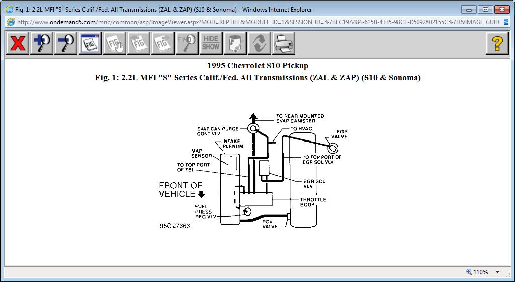 Need Vacuum Line Schematics For 2 2 Engine  Vacuum Lines