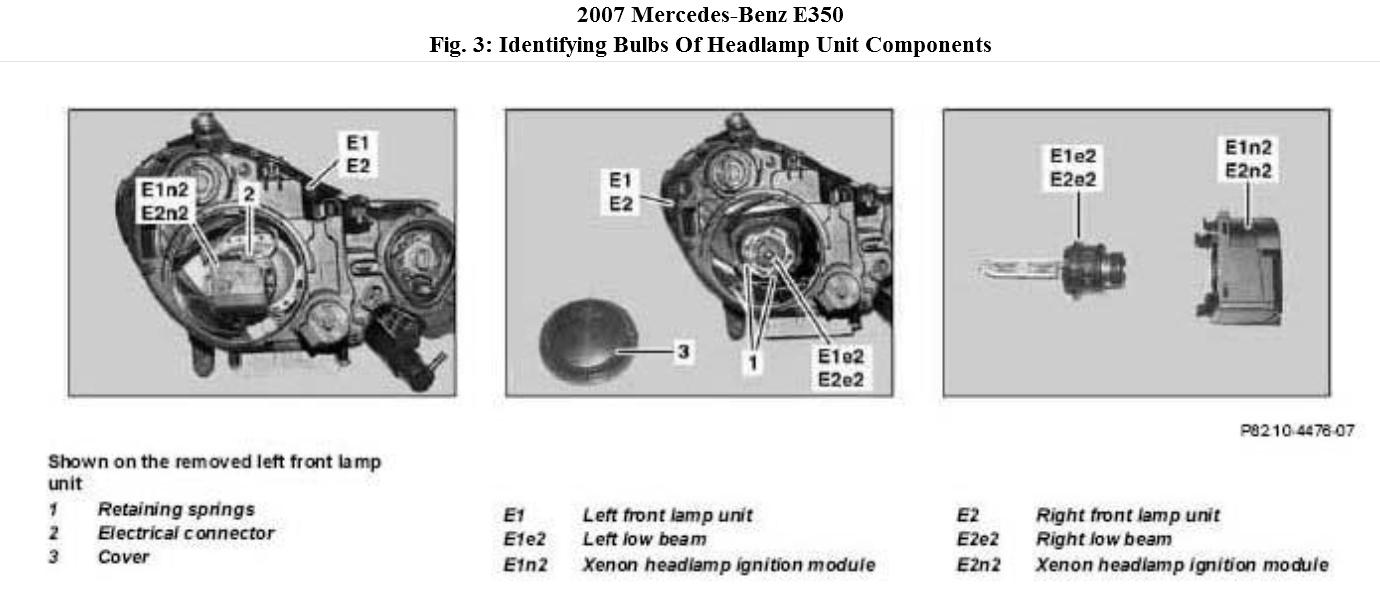 How to replace headlights both of my low beam headlights for Mercedes benz low beam bulb