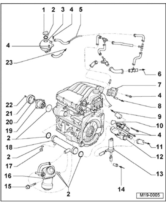 golf engine diagram