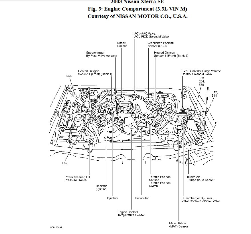 2001 nissan xterra engine diagram