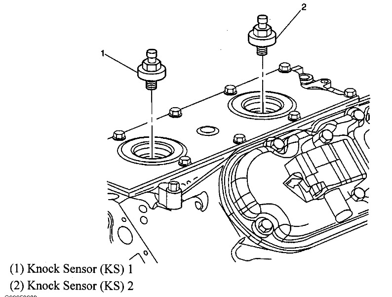 2005 chevrolet silverado knock sensor  had a code for ok