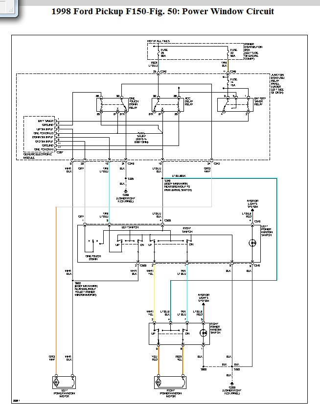 98 F150 Power Window Wiring Diagram - Wiring Diagram Networks