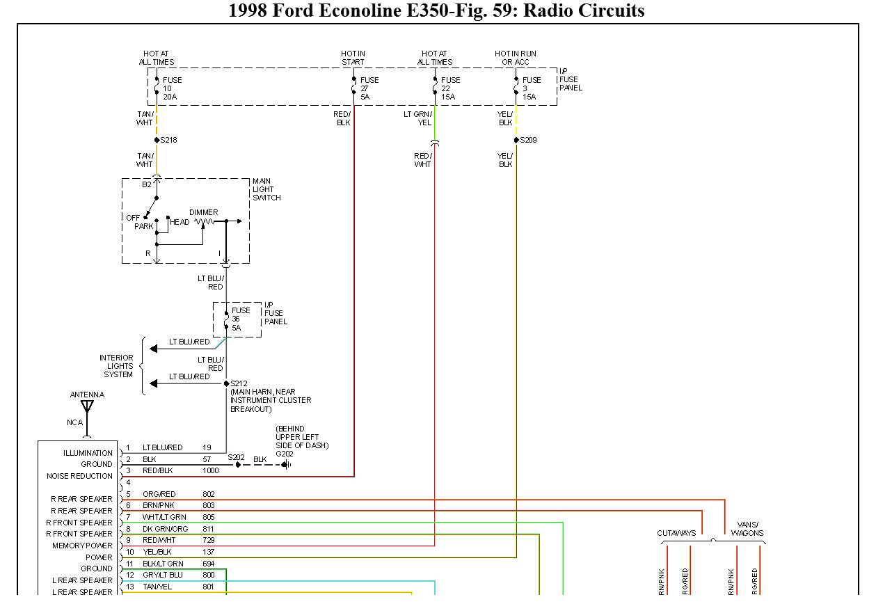 original wiring diagram for 1998 ford e350 transit bus 2014 ford econoline radio wiring diagram at bayanpartner.co