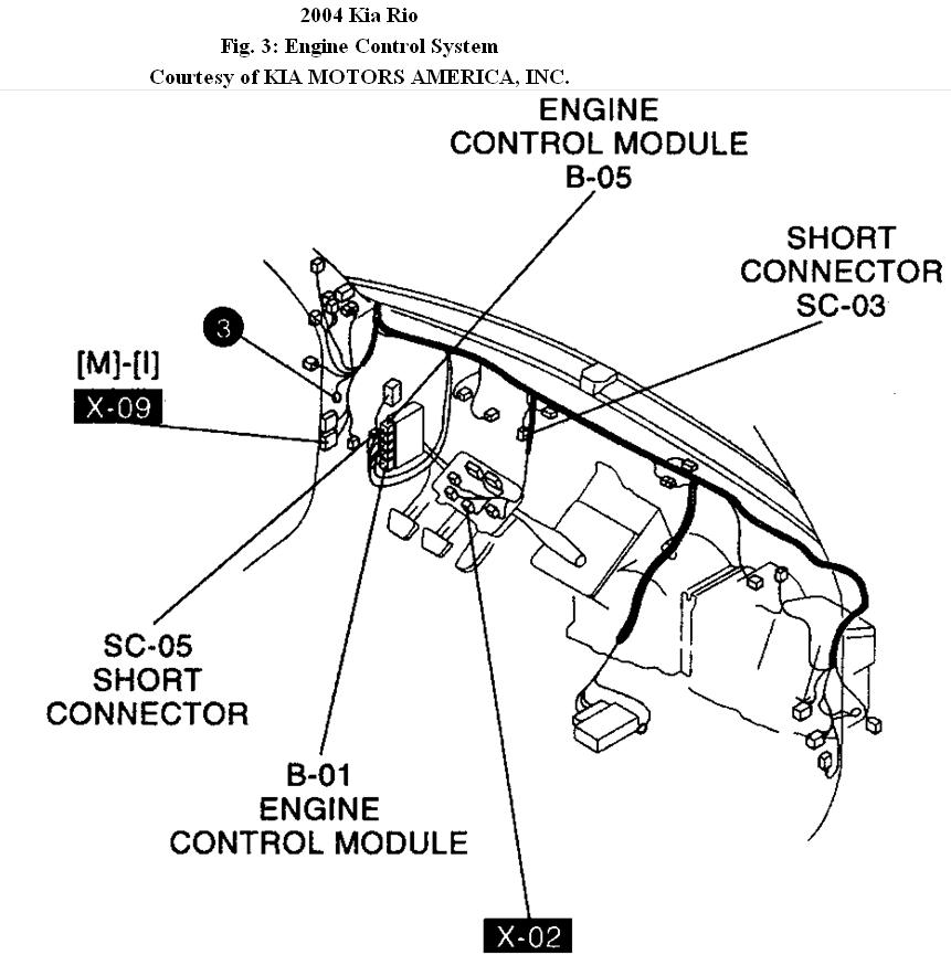 2004 Kia Rio Engine Diagram