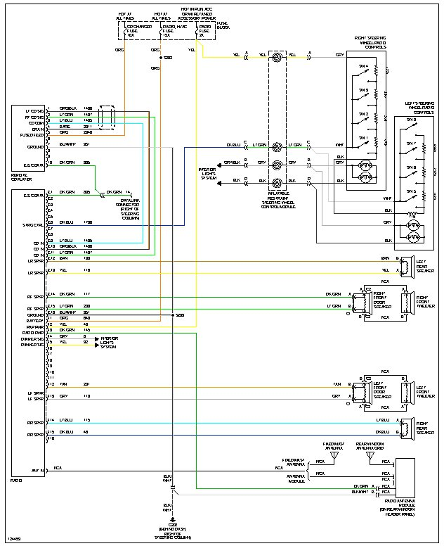 wiring diagram steering wheel audio controls what where is the wiring diagram for the radio which shows steering wheel controls attached image