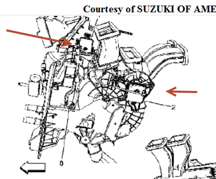 service manual  replace horn on a 2007 suzuki xl7