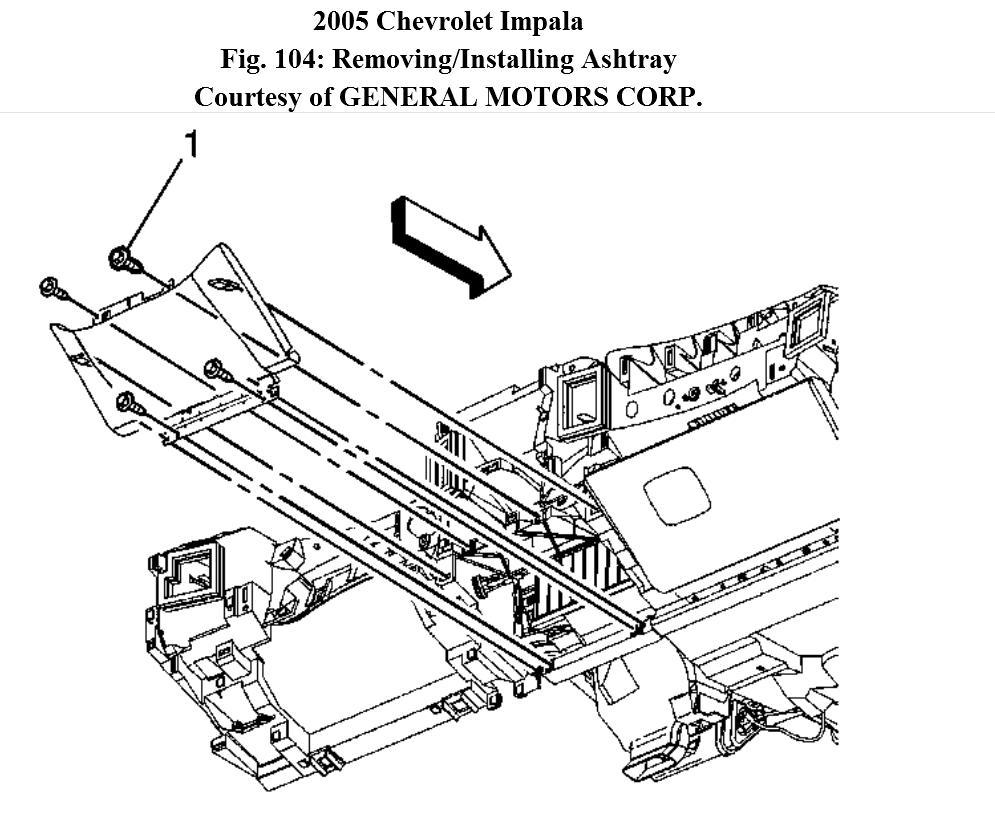 2005 Impala Cig Lighter Socket Repair Ashtray Removal To