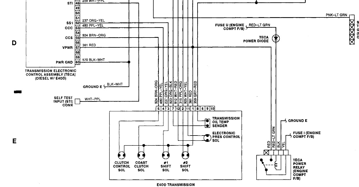 e40d wiring diagram e40d wiring harness 1992 ford f-250 transmission wiring harness: i have a 92 f ...