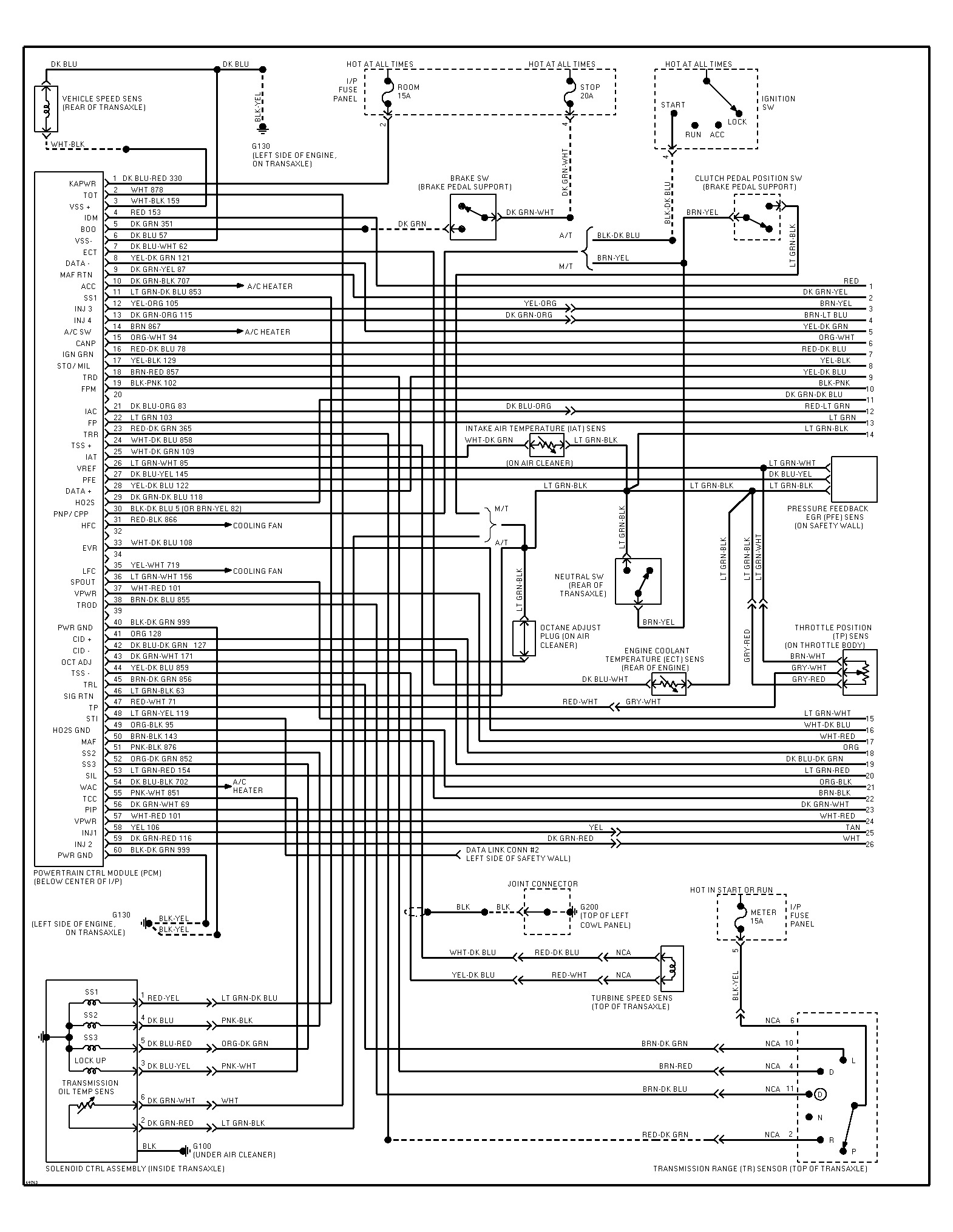 1995 Ford Escort Wiring Diagram: I Need to Find a Color Coded ...