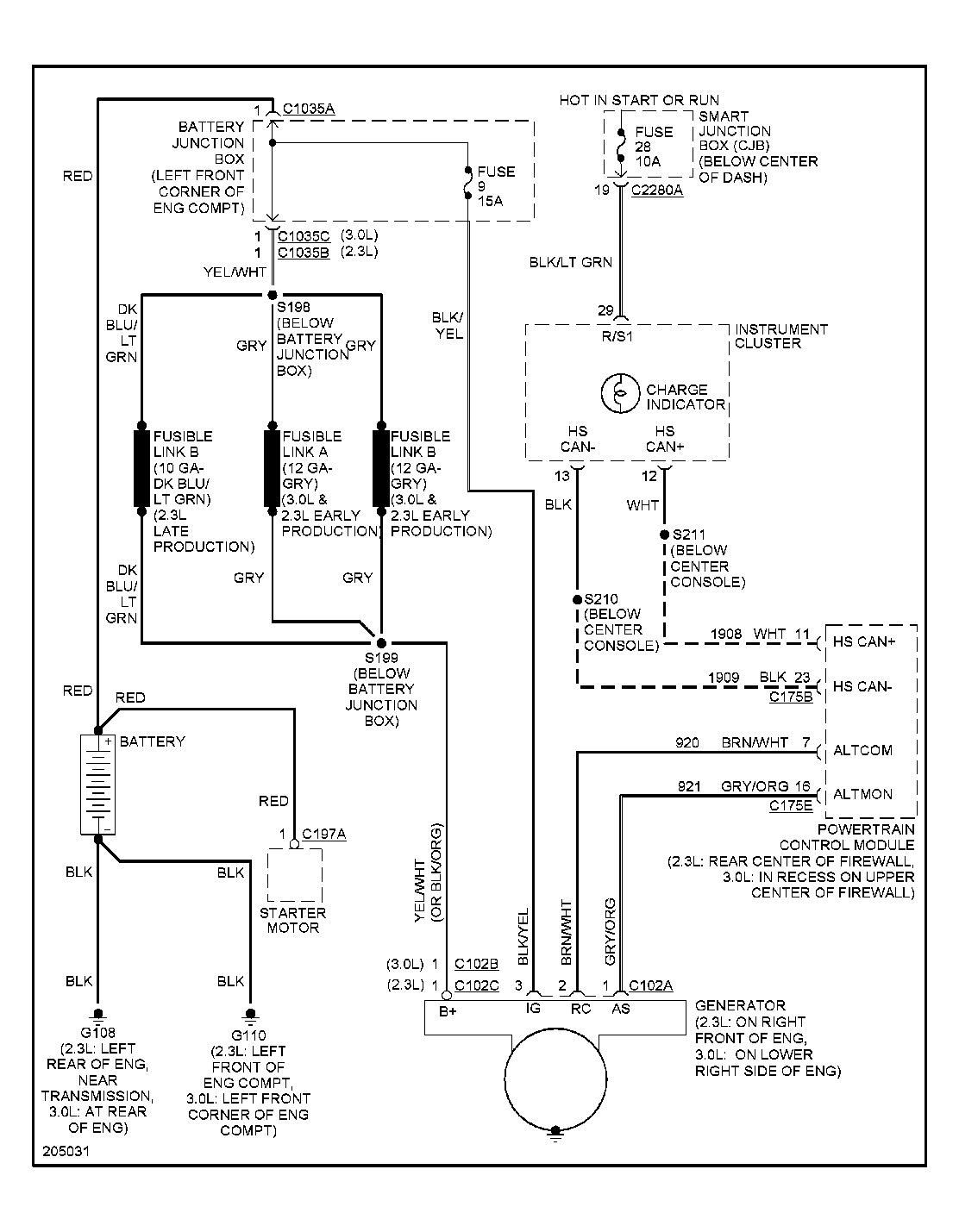 Original on Ford Escape Alternator Wiring Diagram