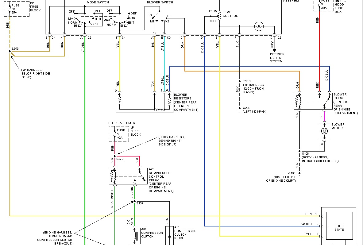 Gm Temperature Actuator Wiring Diagram Will Be A Ac Linear Heater Blend Foor Motor Rh 2carpros Com 1424 Acme Rotork