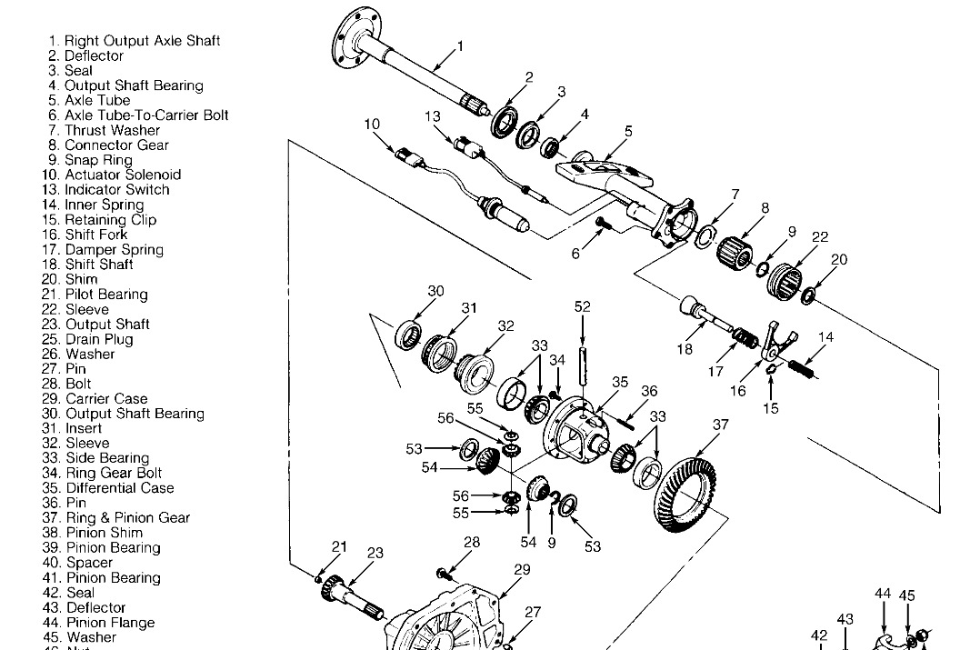 1997 gmc sierra passenger differential tube  took differential