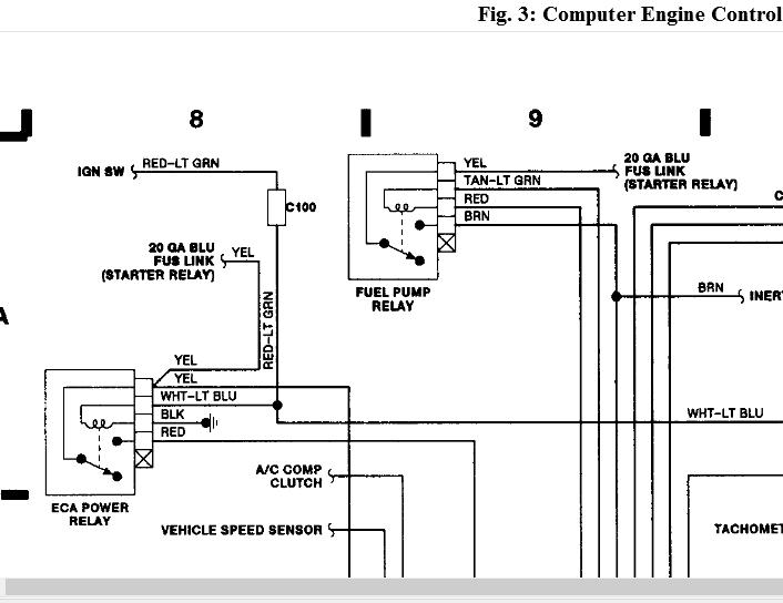 1989 ford f 150 fuel pump relay wiring i have a 1989 f150 xlt rh 2carpros com 1990 Ford F-150 Fuel System Diagram Ford Ranger Fuel Pump Wiring Diagram