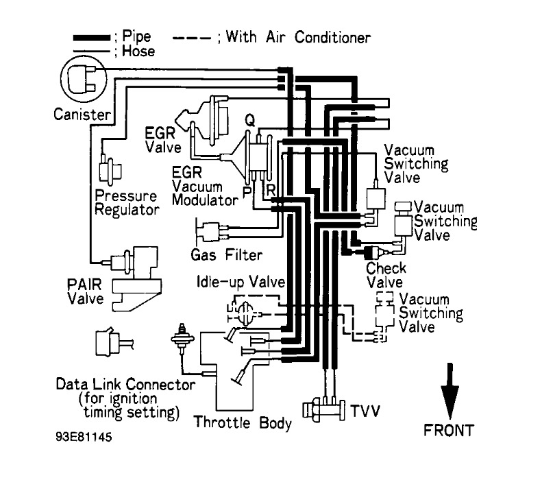 1993 toyota pickup vacuum diagram