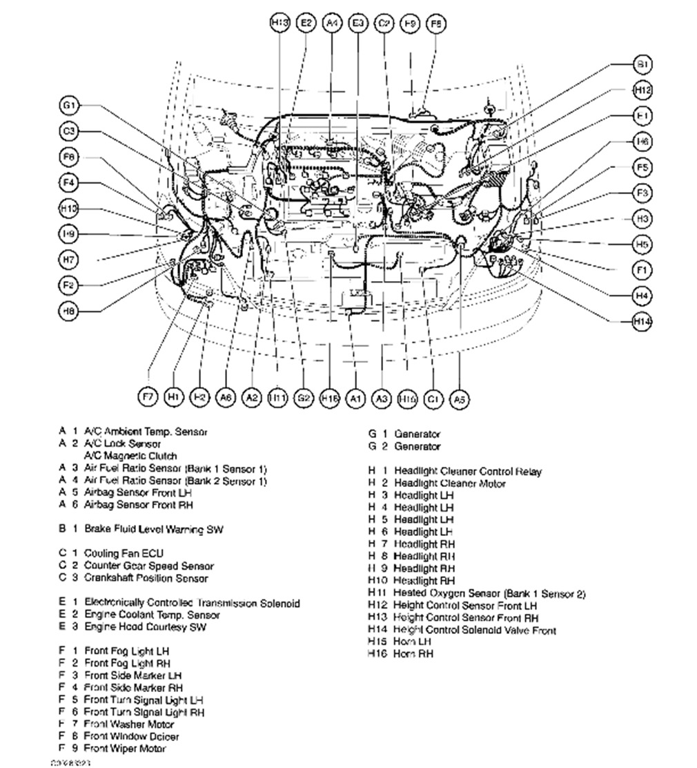 O2 Sensor Location Lexus Rx330 2004 Wiring Diagram And