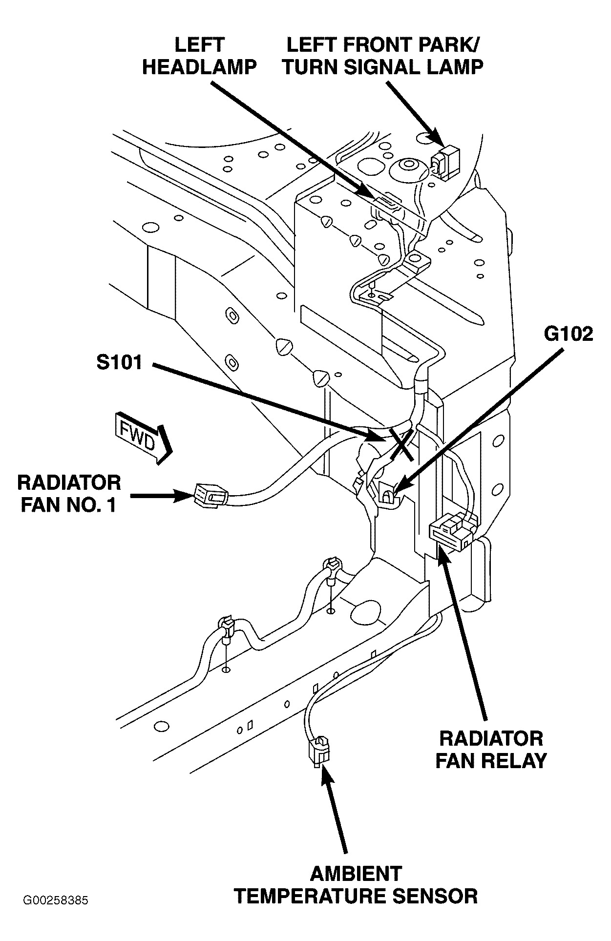original 2005 chrysler town and country cooling system diagram on wiring