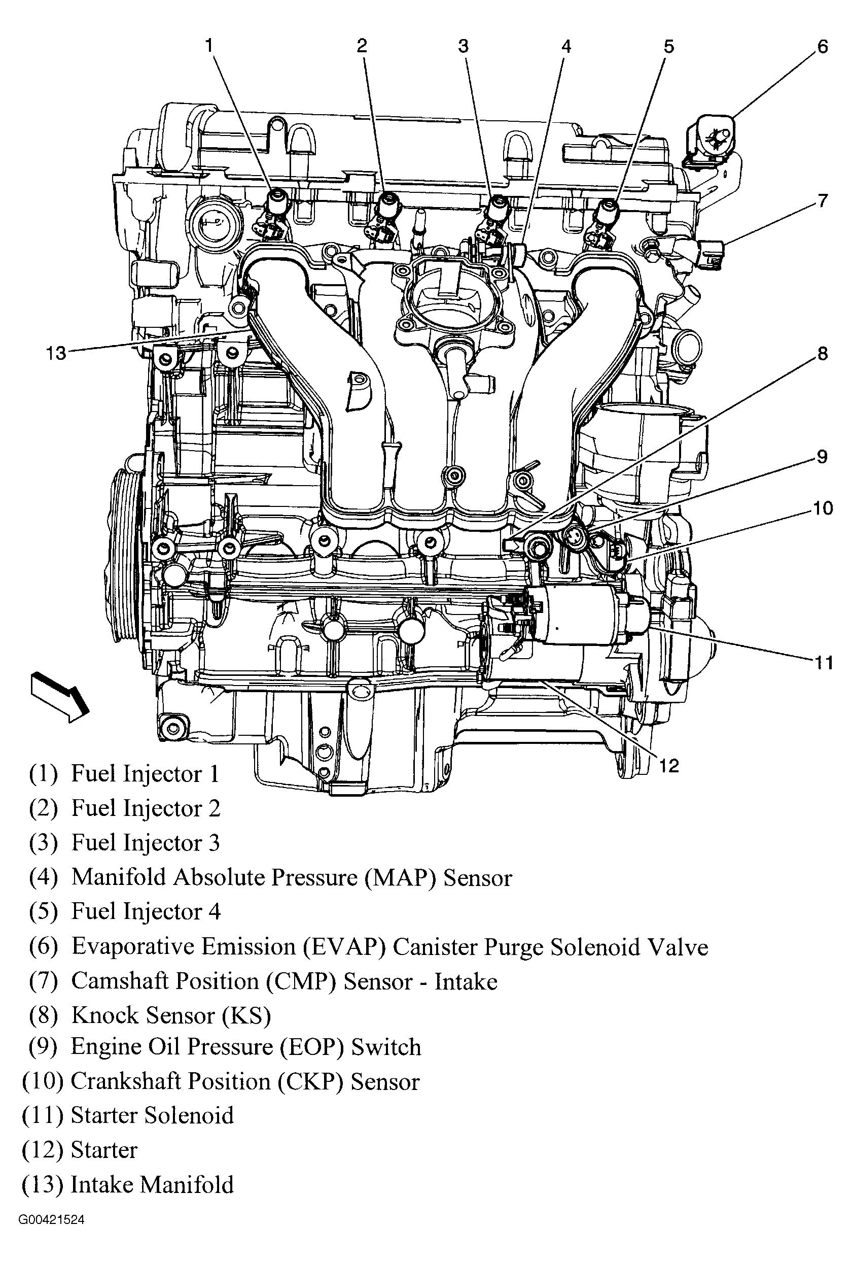 Original on 2011 Chevy Malibu 4 Cylinder Engine
