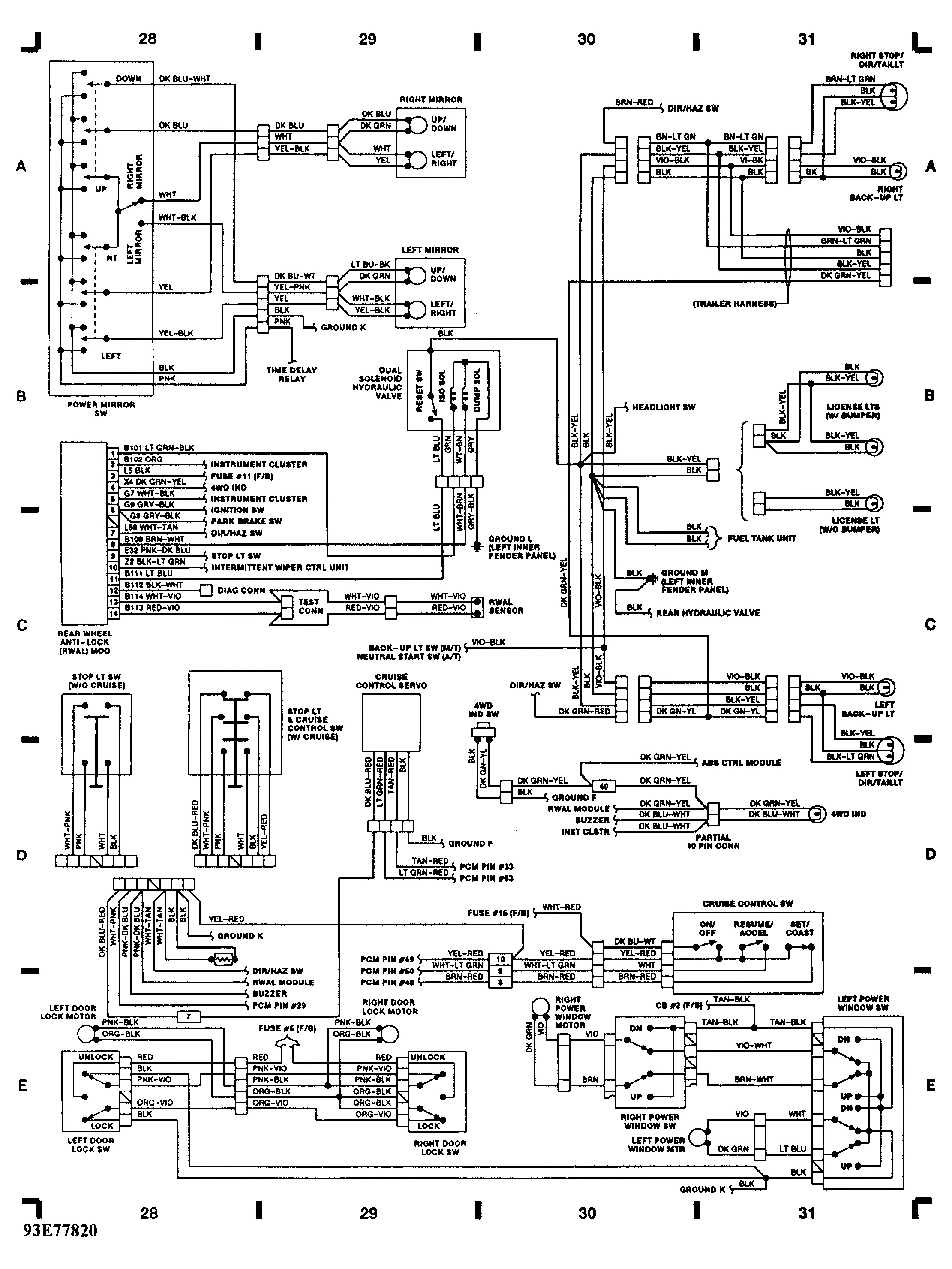 1995 Dodge Dakota Headlight Switch Wiring Diagram