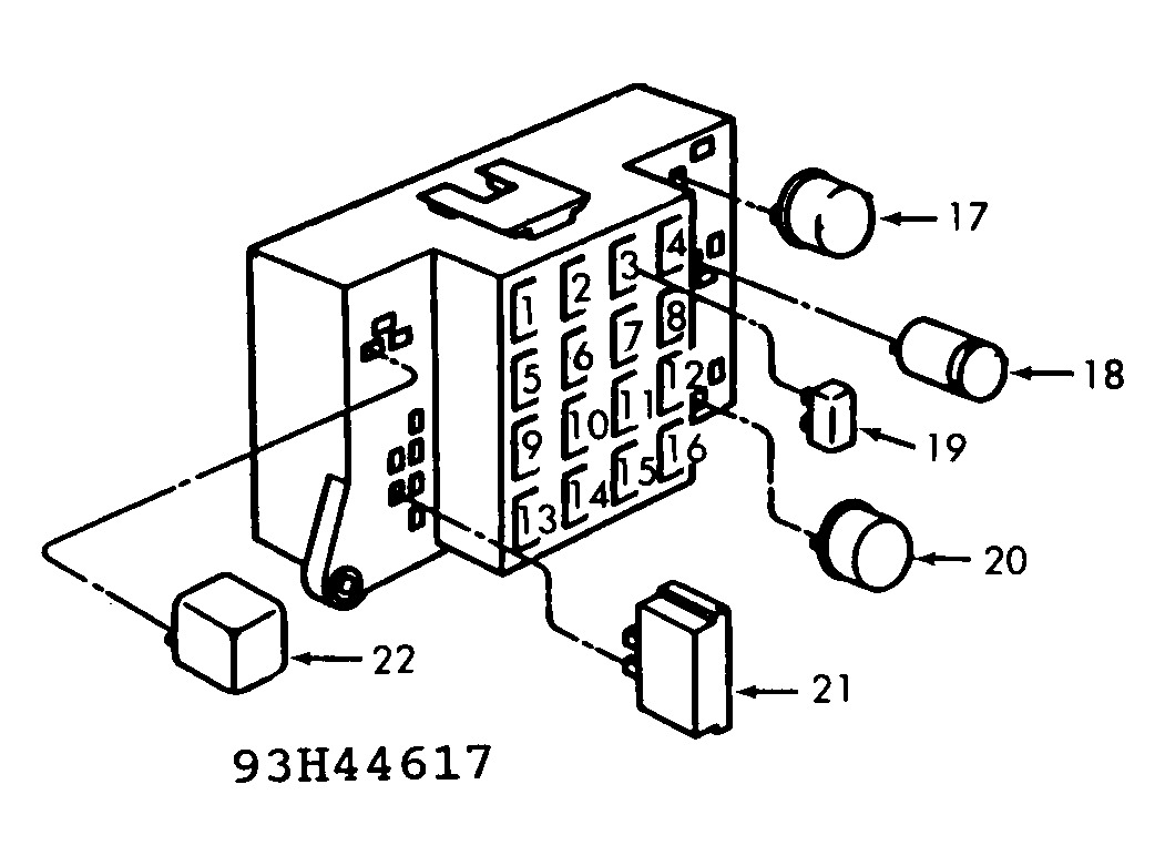 1992 dodge dakota fuse block  dodge  auto fuse box diagram