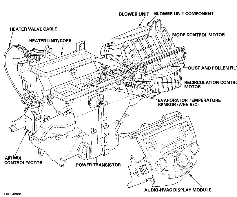 2000 honda accord ac condensor fan schematic