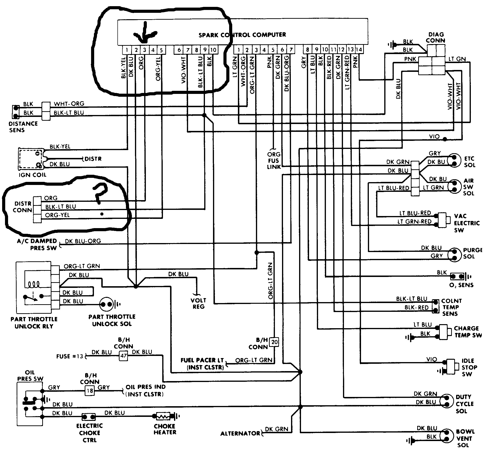 ignition coil wiring diagram for 89 dodge dakota