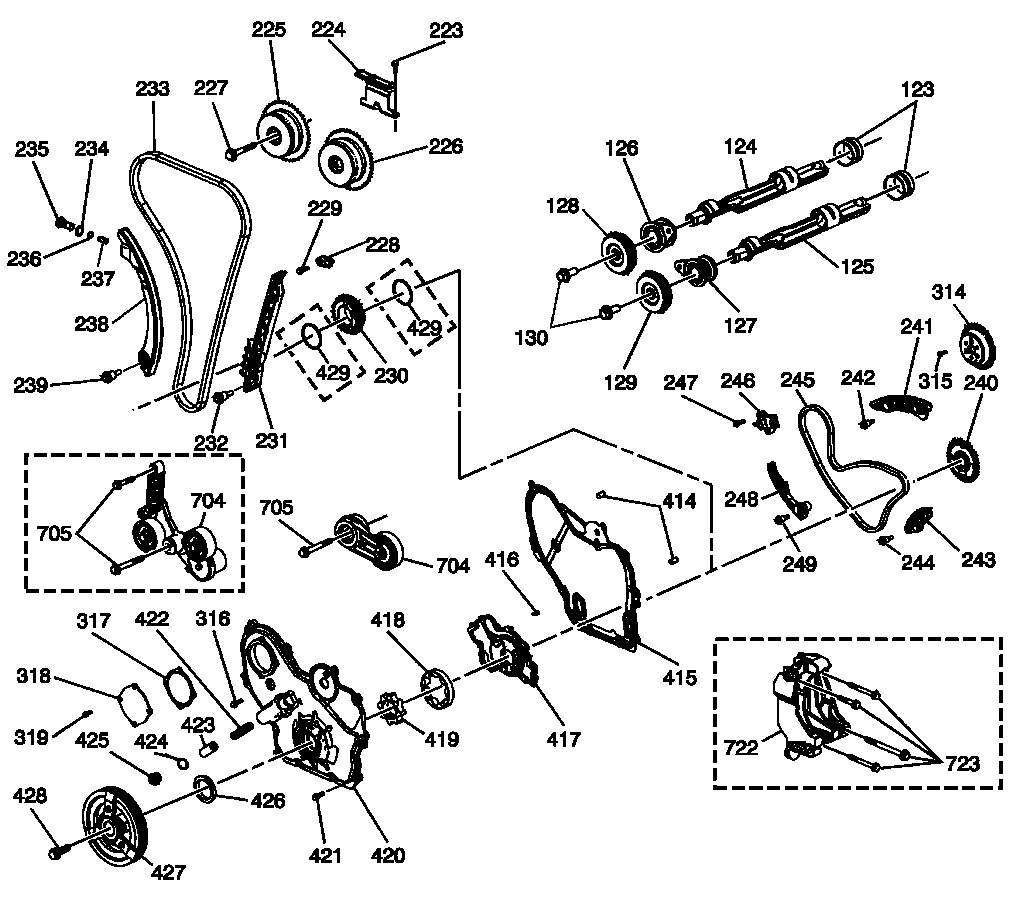 2009 chevrolet malibu timing chain diagram  timing chain