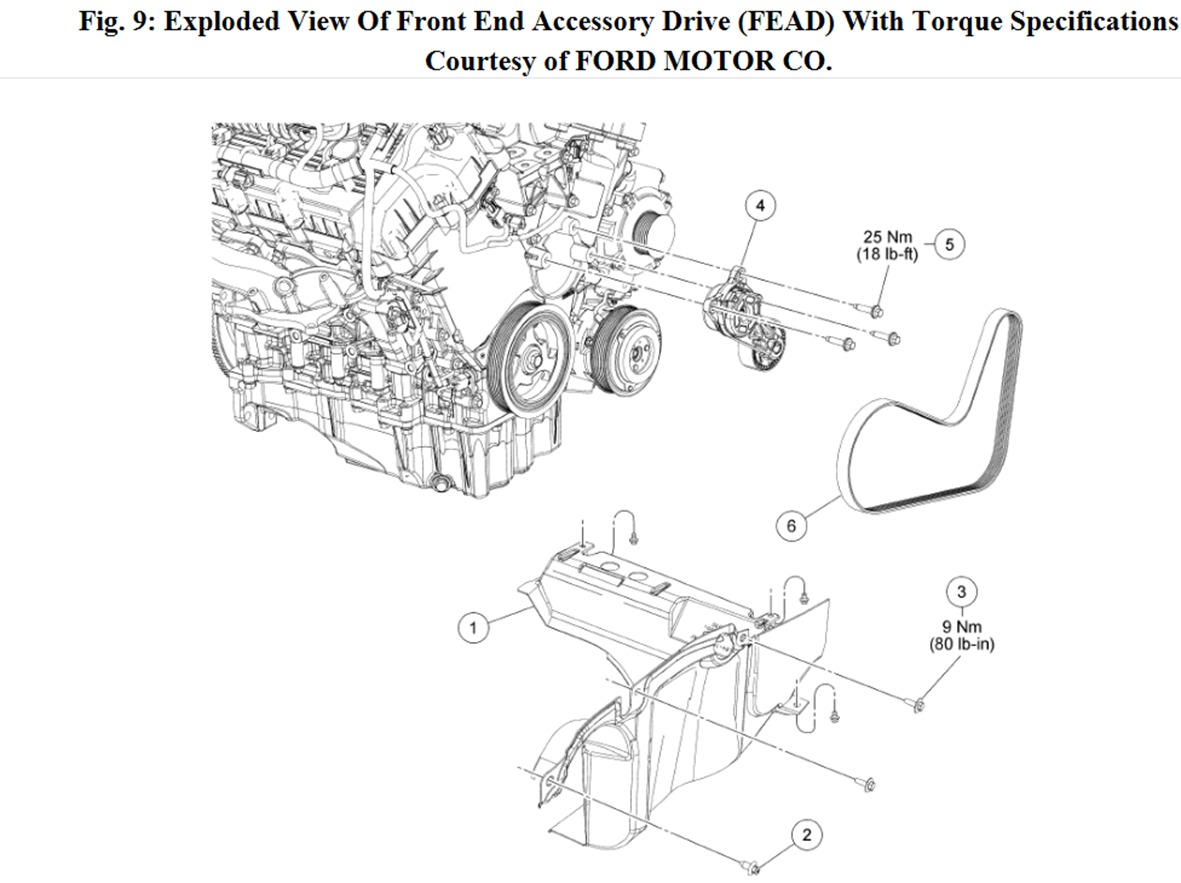 2010 Ford Escape Serpentine Belt Diagram