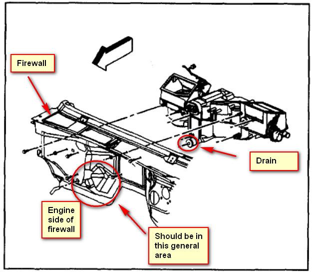 air conditioner drain diagram front a c drain where is it   front a c drain where is it