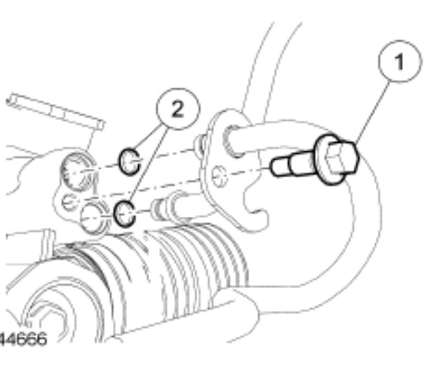 2009 ford focus power steering pump pressure hose