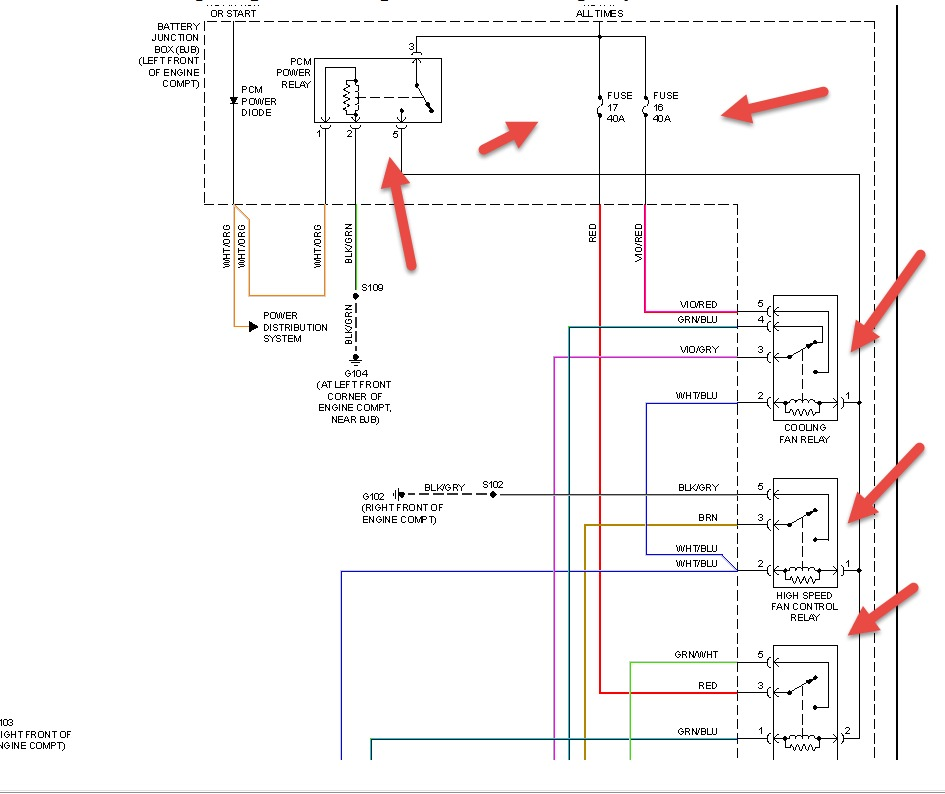 2008 ford escape cooling fans: both aux and main cooling ... 2008 ford escape cooling fan wiring diagram 2008 ford f350 cooling fan wiring