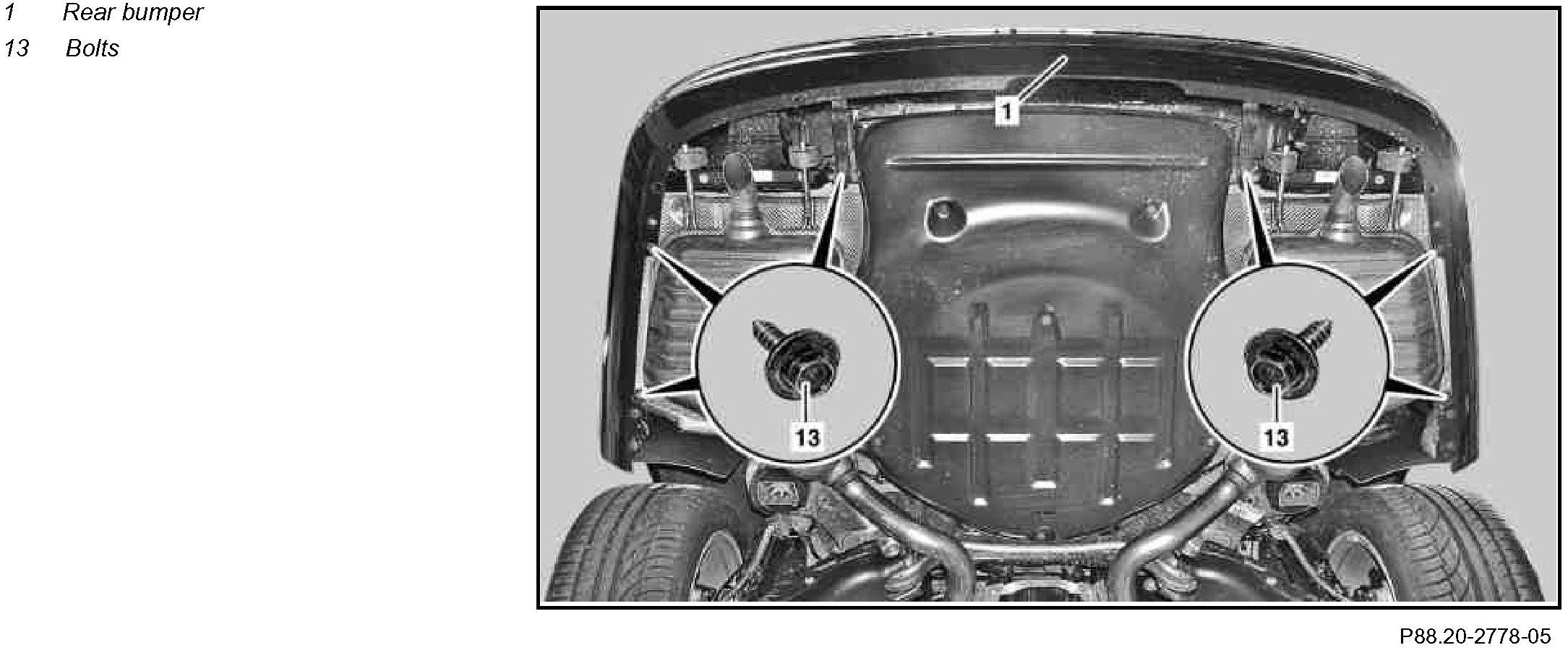 2011 mercedes benz s550 rear bumper removal instructions for Mercedes benz bumper repair