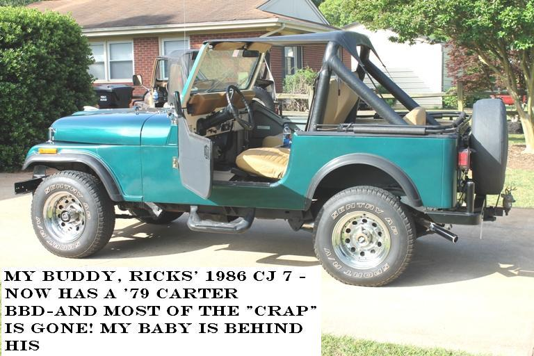 1984 Jeep CJ7 CJ Stalling When Idling: I Power Washed My CJ