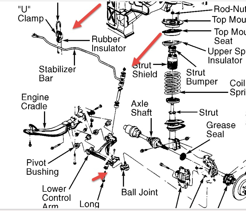 1999 chevy malibu suspension diagram  parts  auto parts