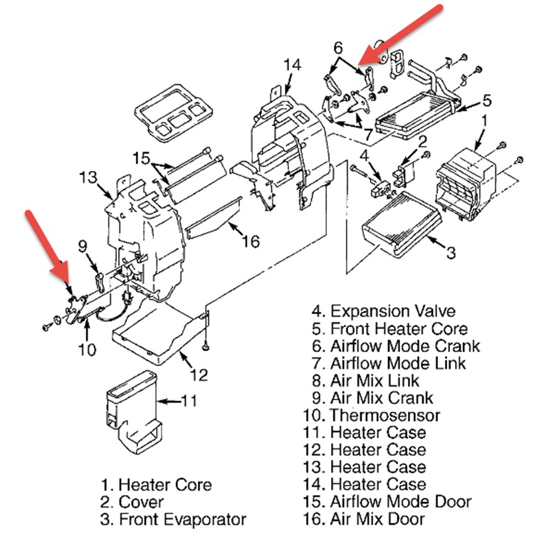 2001 mazda premacy vent direction selection knob the vent. Black Bedroom Furniture Sets. Home Design Ideas