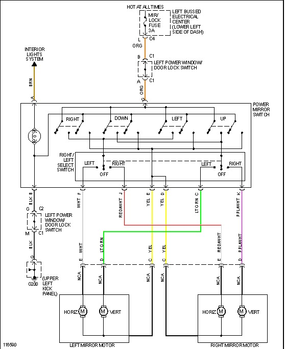 1999 GMC Sierra Power Window Switch Wiring Diagram