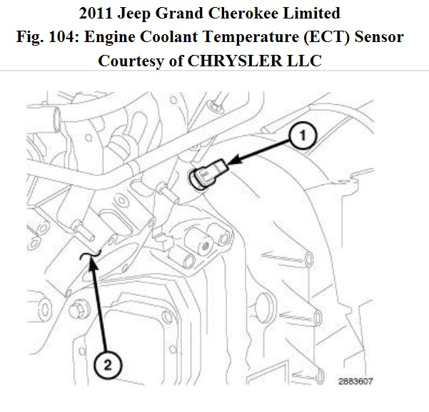 2011 jeep grand cherokee engine coolant sensor replacement