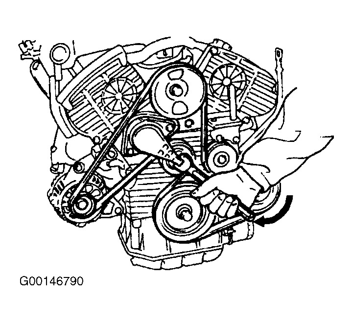 serpentine belt replacement diagram needed  how do you release the