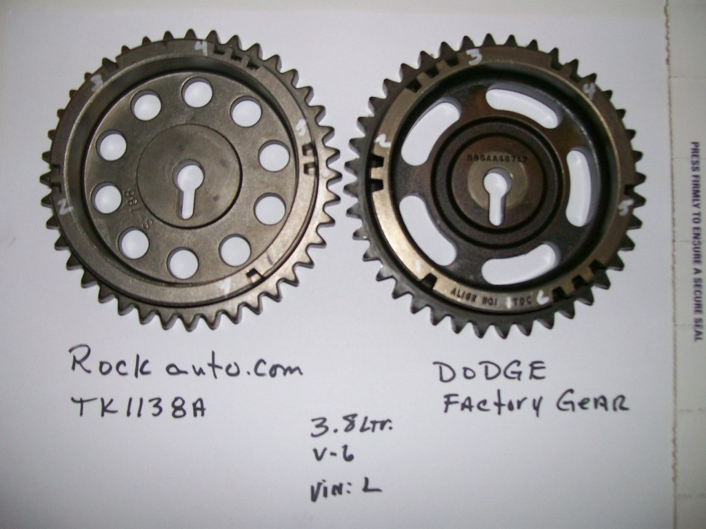 2005 Dodge Caravan Timing Chain Sprocket  I Purchased A