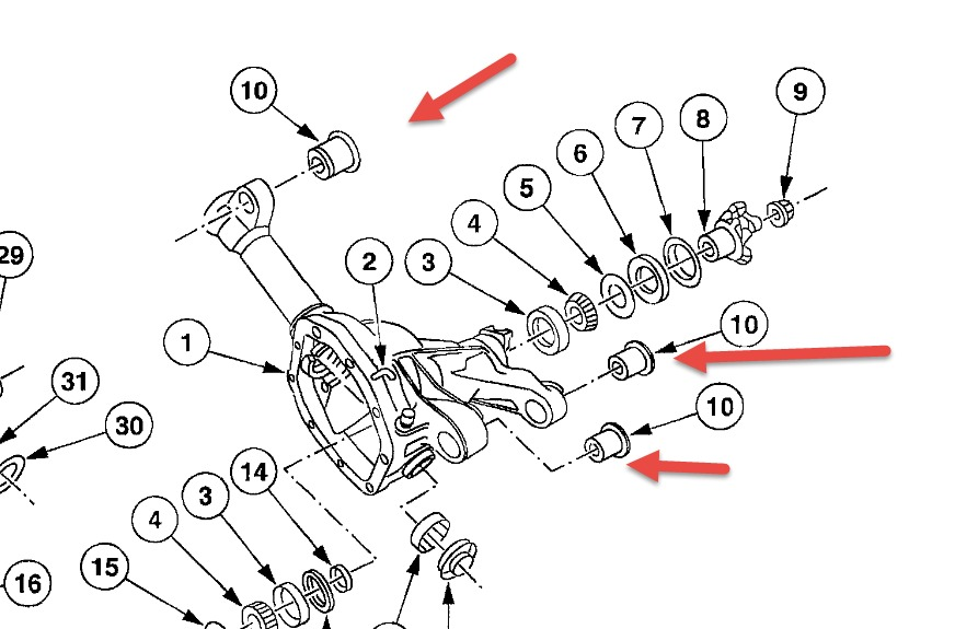 2002 mercury mountaineer rear suspension