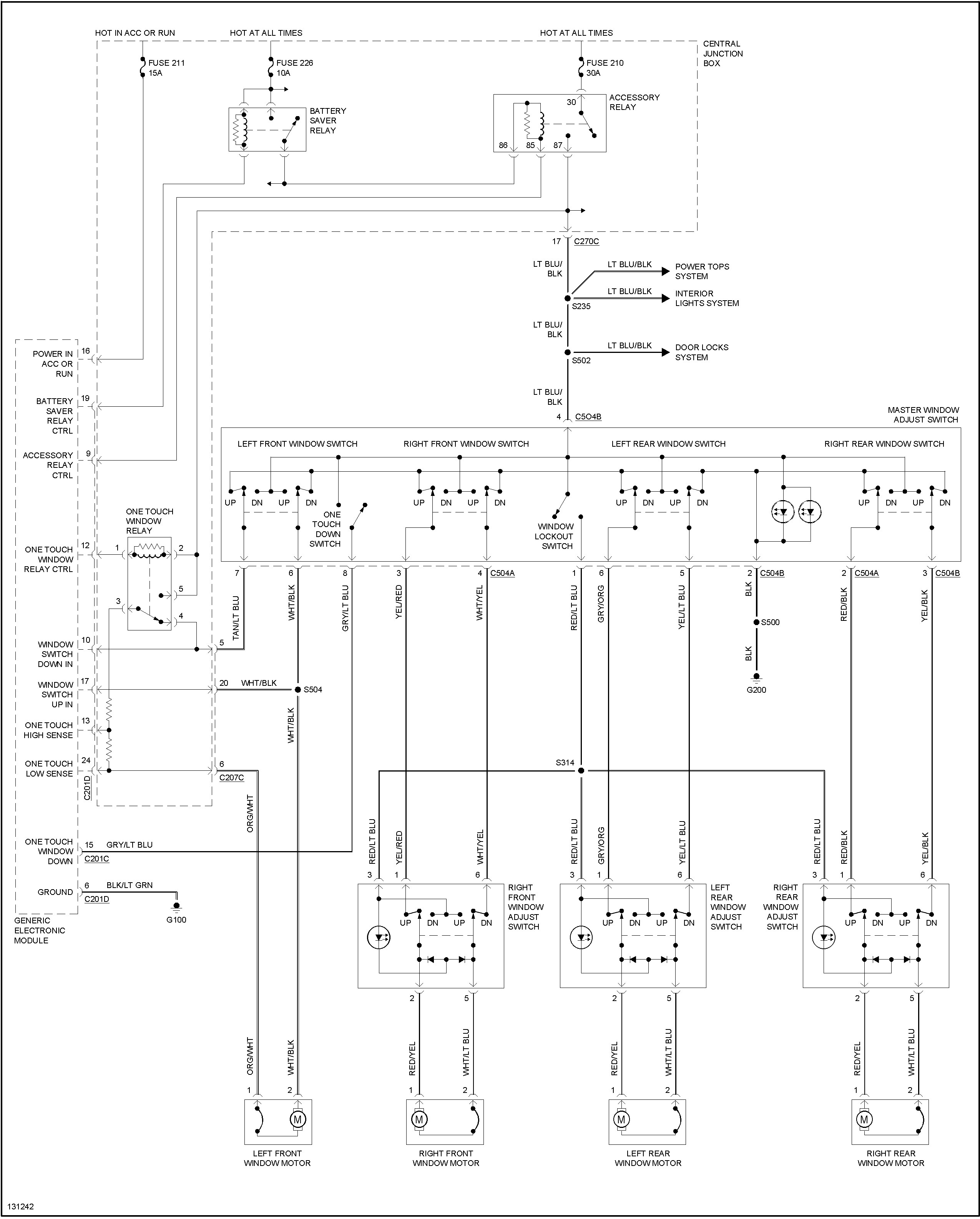 1995 Mercury Villager Wiring Diagram