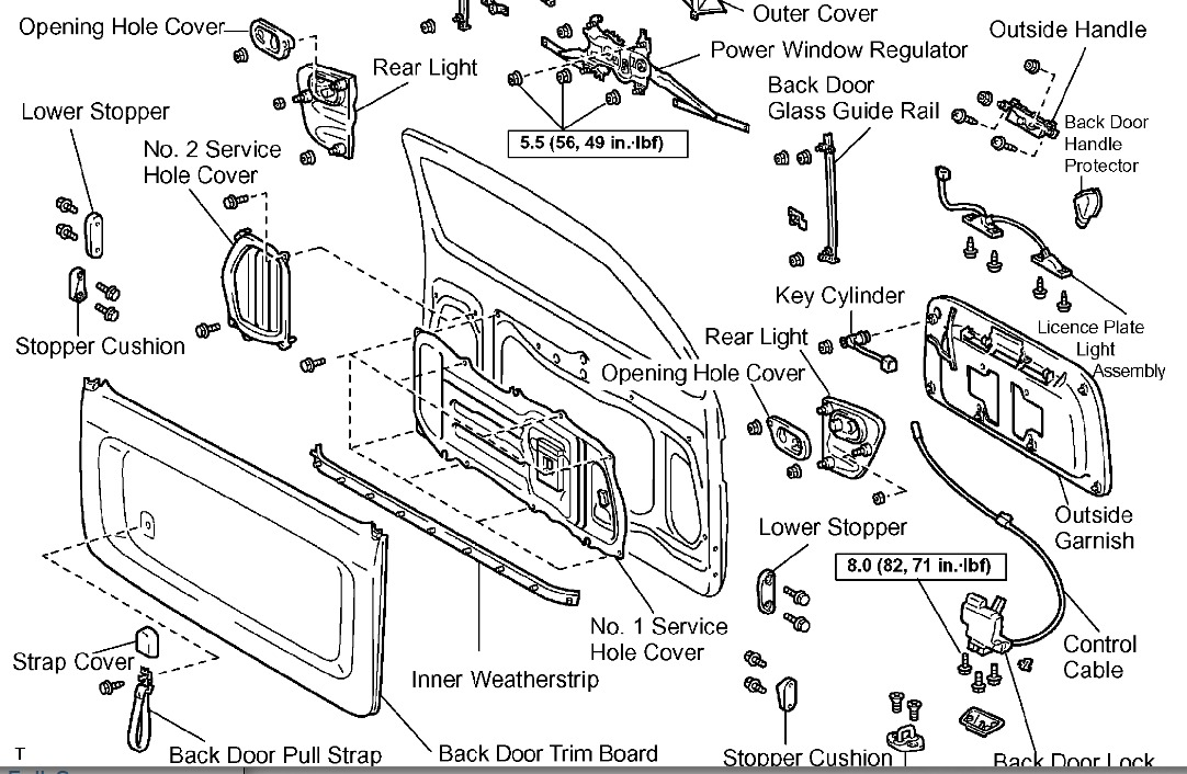 original 2005 toyota sequoia latch on rear door broken 2003 toyota sequoia stereo wiring diagram at soozxer.org