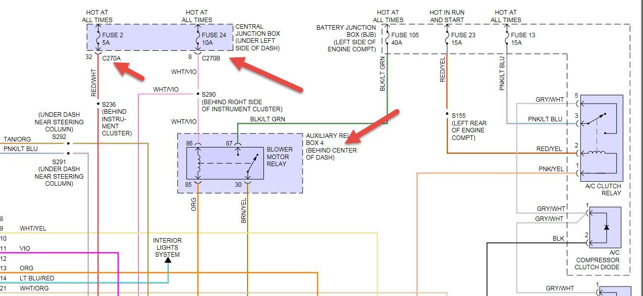 2002 Ford F-150 Fan Blower Motor Quit: Fan Blower Motor Quit ...  F Blower Motor Wiring Diagram on