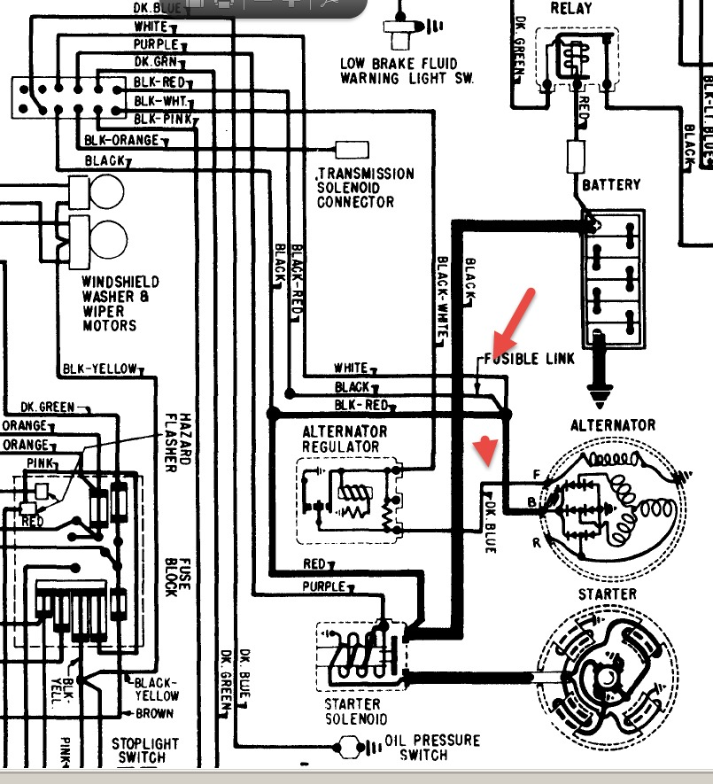 alternator wiring diagram 1964 pontiac catalina  pontiac