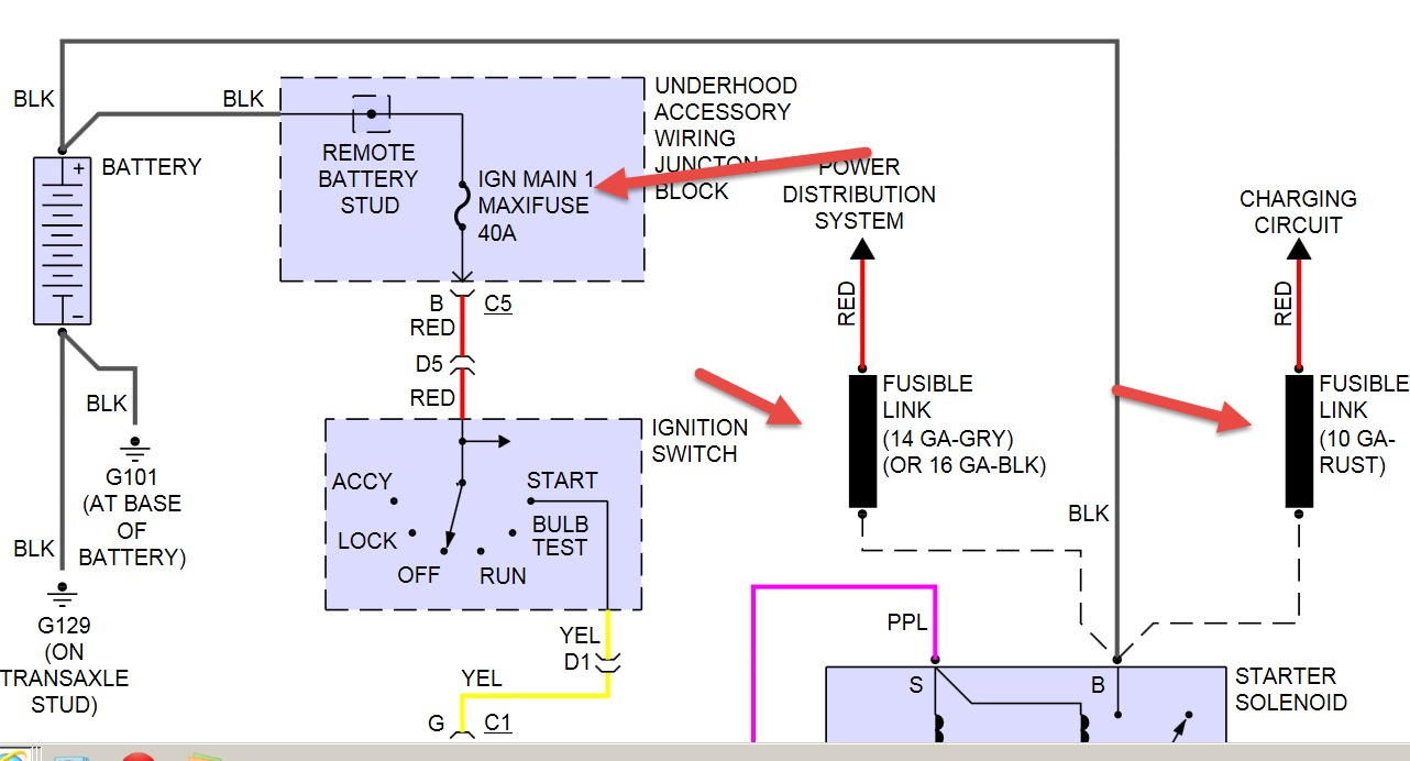 No Start Condition New Battery And Starter Passlock Wiring Diagram Testing Procedure Test Thumb