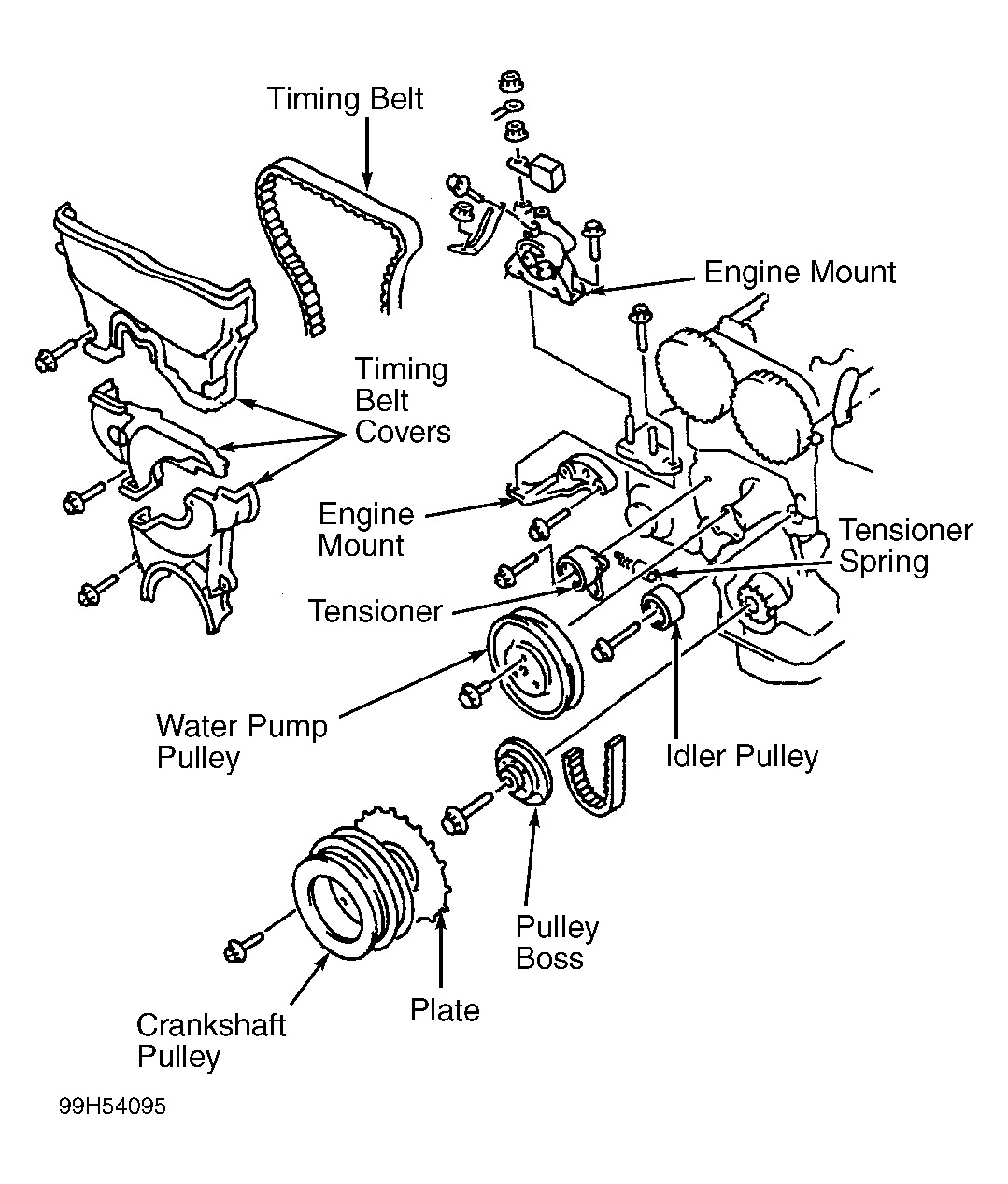 ford ranger 2001 3 0 engine water pump diagram toyota 3.0 engine vaccum hose diagram
