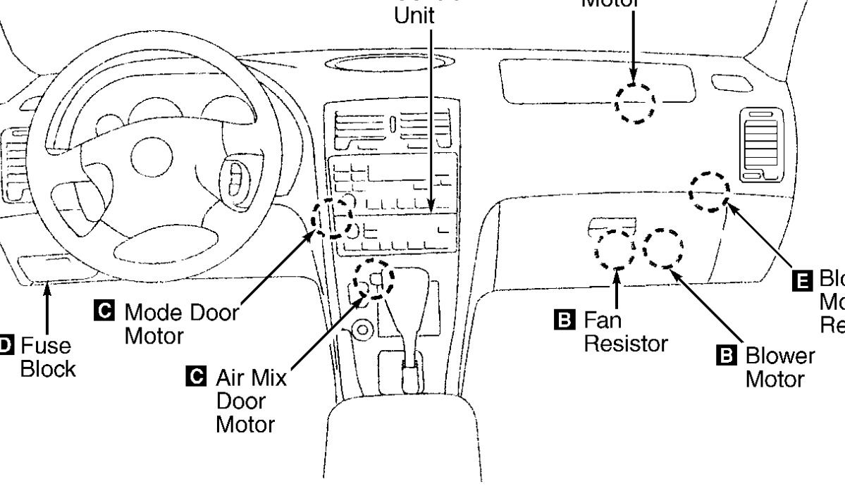 2000 Nissan Maxima Heater Only Blows Cold Air At All Times 2004 Fuse Diagram Thumb