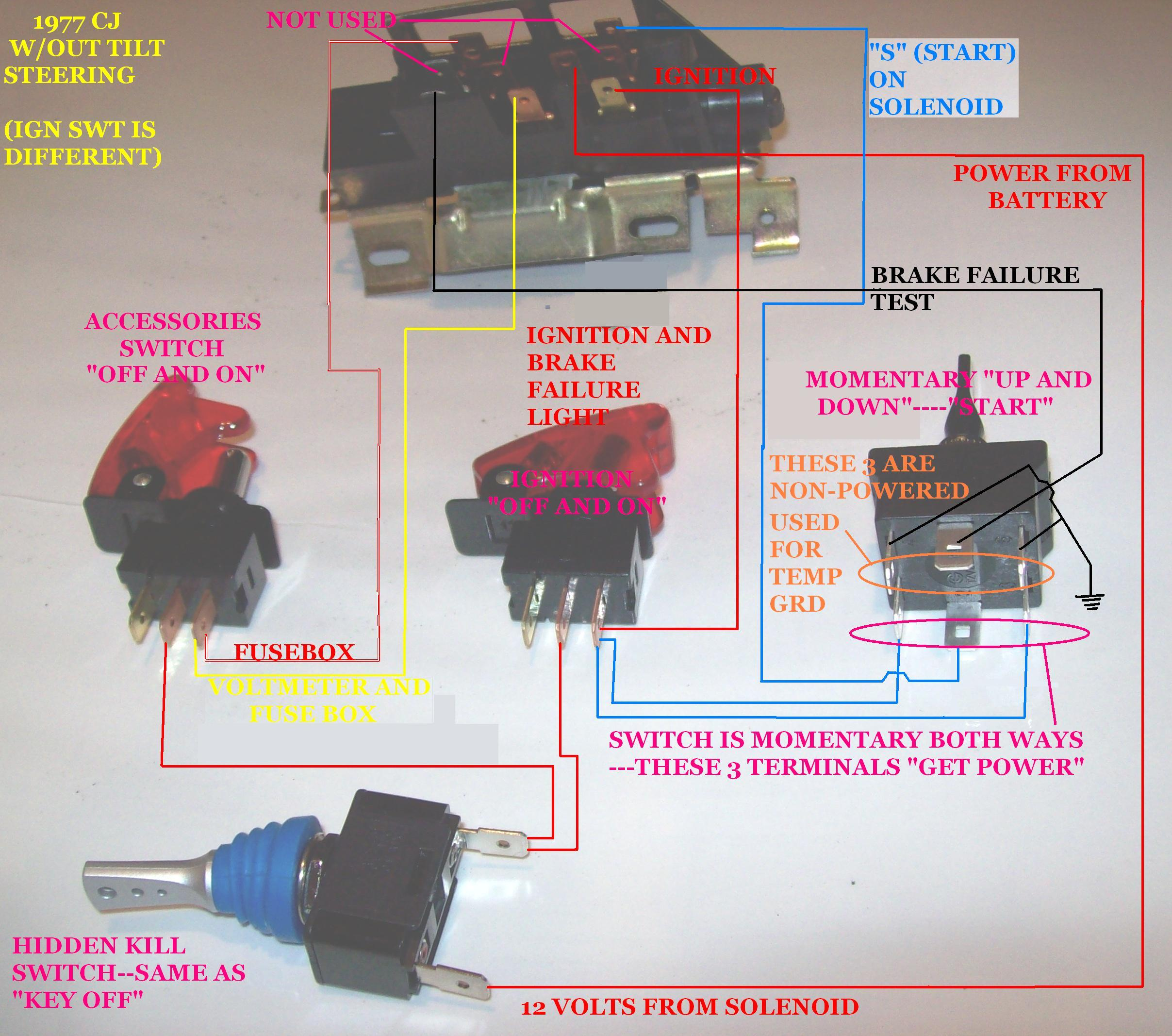 jeep cj headlight switch wiring jeep cj heater switch wiring cj fuse box wiring diagram for light switch jeep cj5 #4