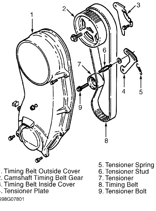 1998 suzuki sidekick timimg belt repair  timing belt broke